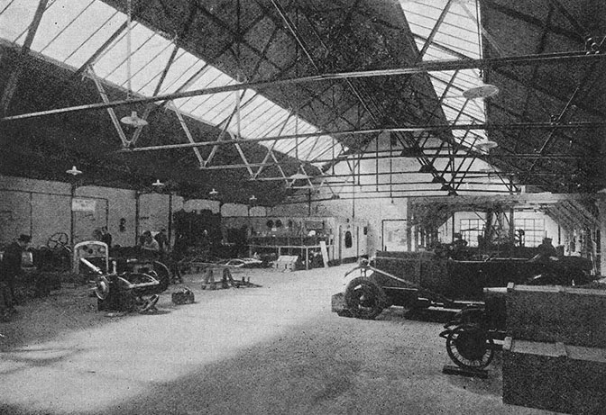 Birkin workshop in Broadwater Road sectional factory