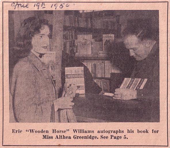 Author Eric Williams book signing in the Welwyn Stores Bookshop