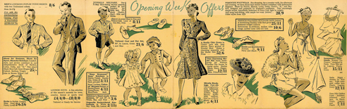 Cover of brochure for opening of the new Welwyn Dept Stores (2)