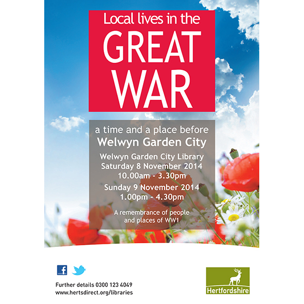 WGC Library WW1 poster for November 2014 event