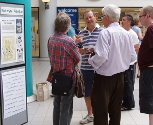 Trustee Graham Bell chats with visitors to our launch