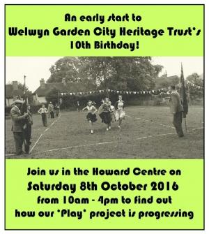 Poster using Lanefield Walk Coronation celebrations picture