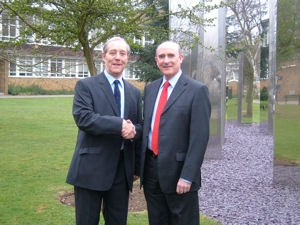 Dr Stephen Boffey (right) with Tony Skottowe