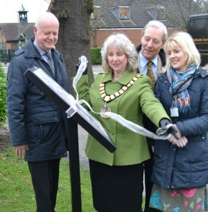 Peartree Interpretation Board is unveiled