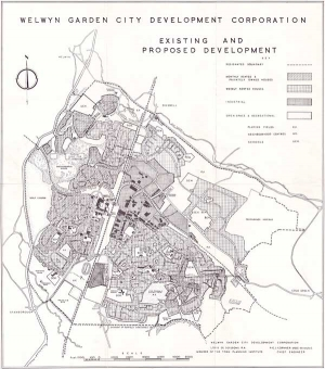 WGC Development Corporation plan showing existing & proposed areas of development